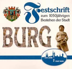 Festschrift zum 1050jährigen Bestehen der Stadt Burg