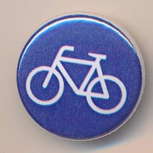 Button Radweg / Fahrrad