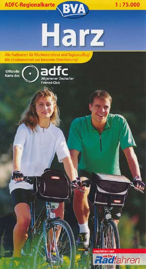 ADFC-Regionalkarte Harz Maßstab 1:75.000, BVA