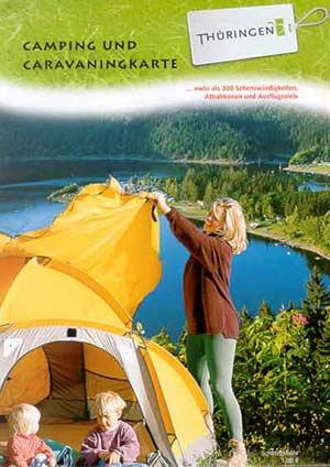 Camping- und Caravankarte Thüringen