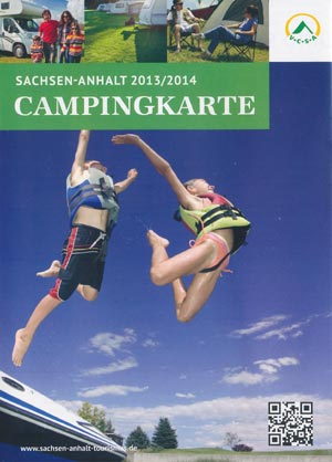 Campingkarte Sachsen-Anhalt 2013/2014