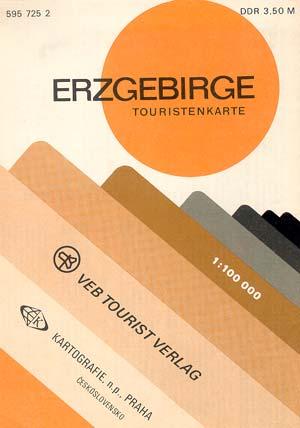 Touristenkarte Erzgebirge Maßstab 1:100.000 (1978)