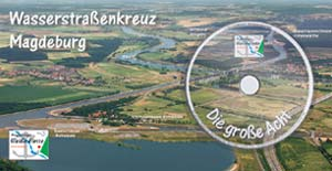 DVD Postkarte Wasserstraßenkreuz Magdeburg: Schiffsfahrt Elbe, Trogbrücke, Kanal: die große Acht