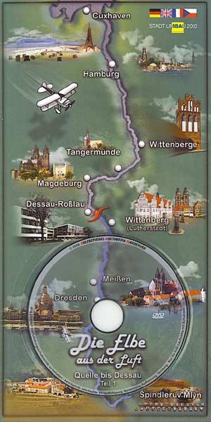 Multimedia-Postkarte Die Elbe aus der Luft, Teil 2: Dessau-Roßlau bis Mündung