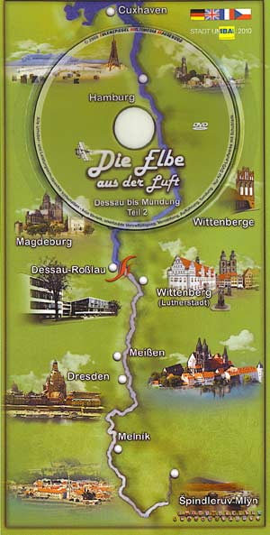 DVD-Postkarte die Elbe aus der Luft Süd