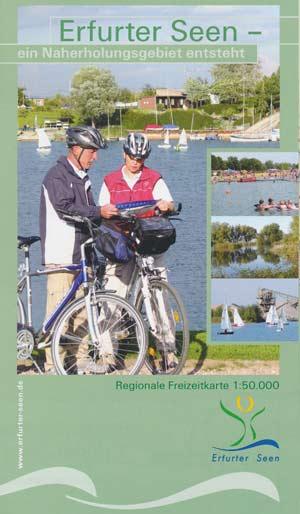 Freizeitkarte Erfurter Seen - ein Naherholungsgebiet