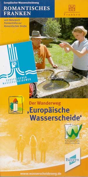 Wanderweg Europäische Wasserscheide vom Naturpark Frankenhöhe zur Romantischen Straße