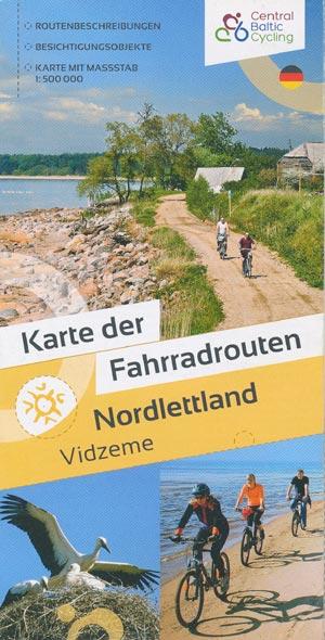 Karte der Fahrradrouten Nordlettland - Vidzeme