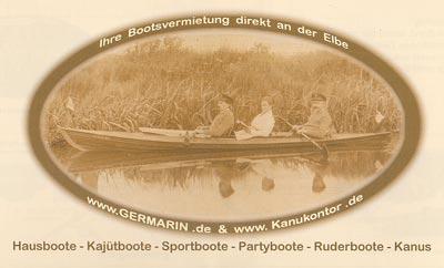 Kanukontor + Germarin - Bootsvermietung Elbe, Flyer
