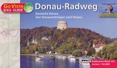 Radtouren-Buch Donau-Radweg Donaueschingen-Passau, Maßstab 1:50.000 - Go Vista Bike Guide