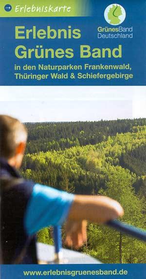 Erlebniskarte Grünes Band in den Naturparken Frankenwald, Thüringer Wald + Schiefergebirge