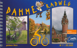 Radwanderführer Dahme-Radweg (grünes herz, Maßstab 1:50.000)