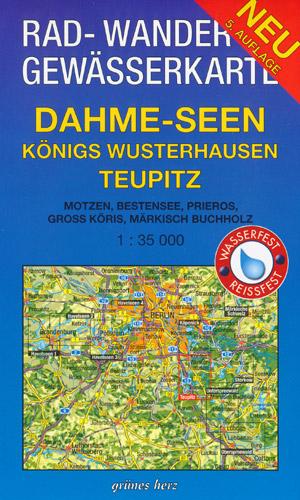 Rad- und Wanderkarte + Gewässerkarte Dahme-Seen