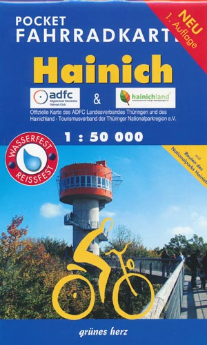 Pocket Fahrradkarte Hainich 1:50.000
