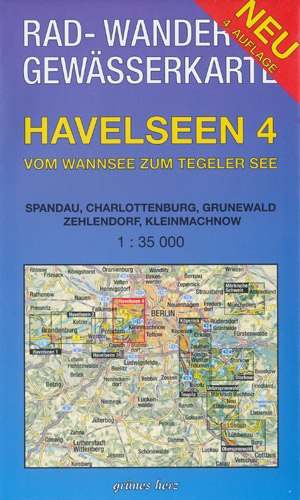 Rad- und Wanderkarte + Gewässerkarte Havelseen 4 vom Wannsee zum Tegeler See