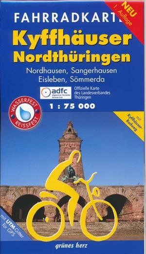 Fahrradkarte Kyffhäuser - Nordthüringen 1:75.000