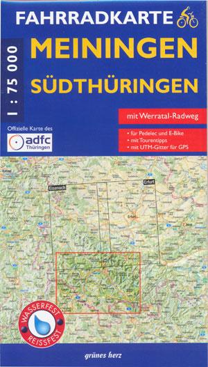 Fahrradkarte Meiningen, Südthüringen 1:75.000