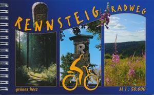 Radtourenbuch Rennsteig-Radweg, Verlag grünes herz
