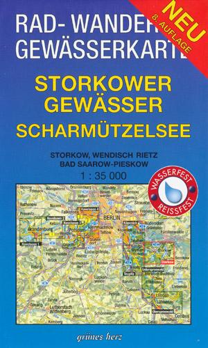 Rad- und Wanderkarte + Gewässerkarte Storkower Gewässer, Scharmützelsee