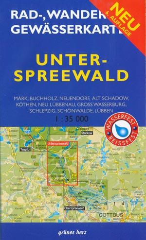 Rad- und Wanderkarte + Gewässerkarte Unterspreewald
