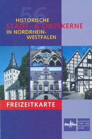 Freizeitführer und Karte Historische Stadt- und Ortskerne in Nordrhein-Westfalen