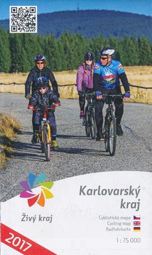 Cyklistická Mapa Karlovarsy kraj, Zivy kraj - Radfahrkarte M 1:75.000