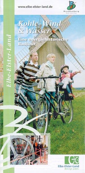 Kohle-Wind und Wasser - energiehistorische Radtour, Faltblatt