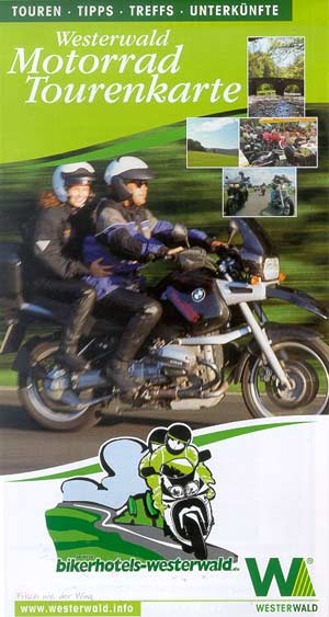 Motorrad-Tourenkarte Westerwald