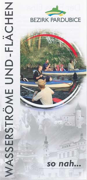 Wasserströme und und -flächen Bezirk Pardubice