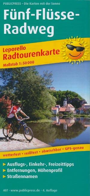Radwanderkarte Fünf-Flüsse-Radweg M 1:50.000, Publicpress