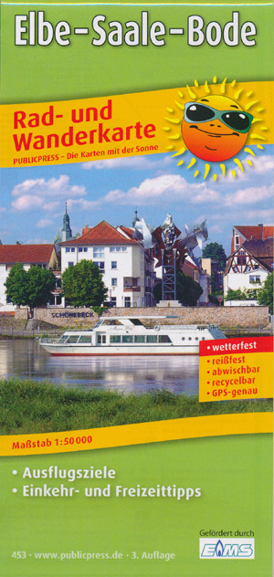 Rad- und Wanderkarte Elbe - Saale - Bode, Publicpress