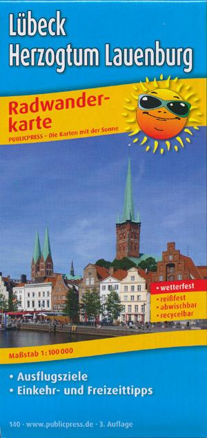 Radwanderkarte Lübeck, Herzogtum Lauenburg, M 1:100.000, Publicpress