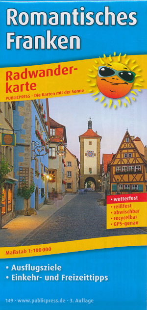 Radwanderkarte Romantisches Franken M 1:100.000, Publicpress