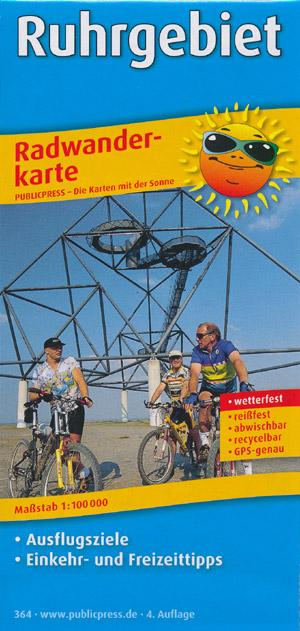 Radwanderkarte Ruhrgebiet M 1:100.000, Publicpress