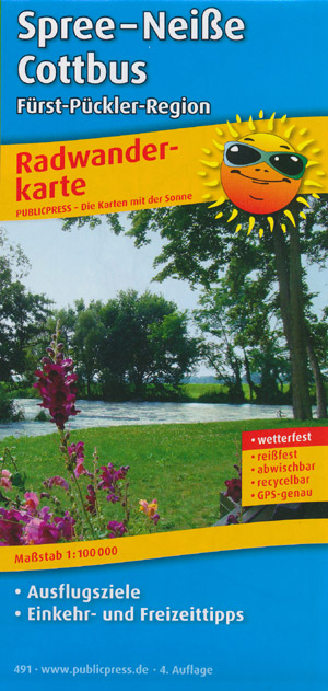 Radwanderkarte Spree-Neiße-Cottbus M 1:100.000, Publicpress