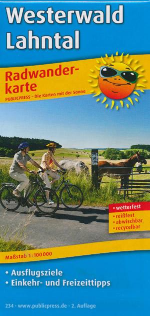 Radwanderkarte Westerwald - Lahntal