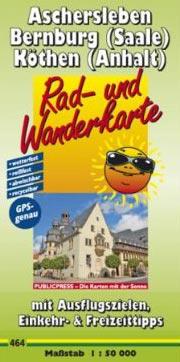 Radwanderkarte Aschersleben Bernburg (Saale) Köthen (Anhalt)