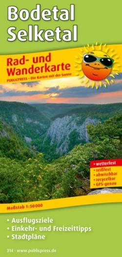Rad- und Wanderkarte Bodetal - Selketal, Publicpress
