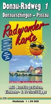 Radwanderkarte Donau 1: Donaueschingen - Passau