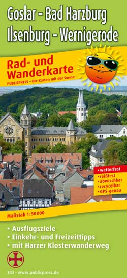 Publicpress Radwanderkarte Goslar Bad Harzburg Ilsenburg Wernigerode