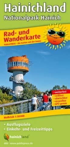 Rad- und Wanderkarte Hainichland Nationalpark Hainich, Publicpress