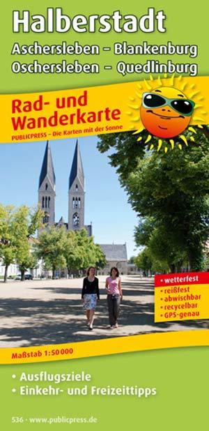 Radwanderkarte Halberstadt Oschersleben Quedlinburg
