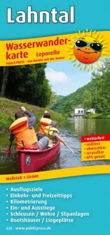 Wasserwanderkarte Lahntal-Radweg