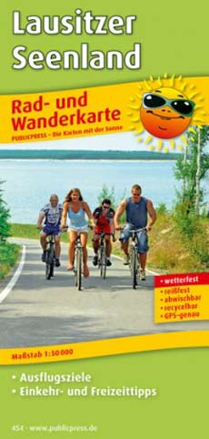 Radwanderkarte Lausitzer Seenland