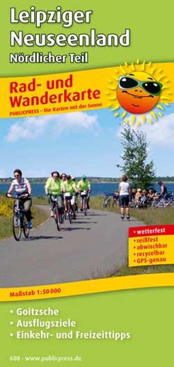 Rad- und Wanderkarte Leipziger Neuseenland - Nördlicher Teil, Publicpress
