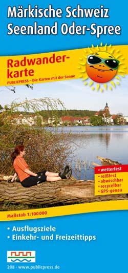 Radwanderkarte Märkische Schweiz, Seenland Oder-Spree