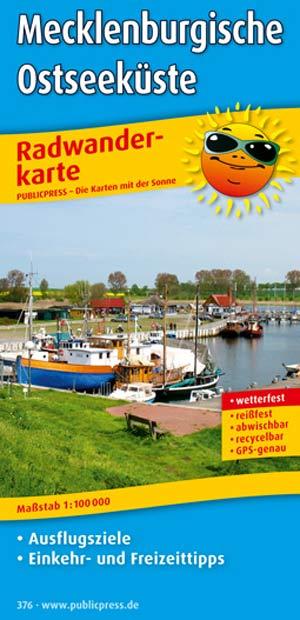 Radwanderkarte Mecklenburgische Ostseeküste