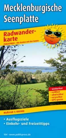 Radwanderkarte Mecklenburgische Seenplatte