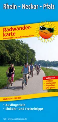 Radwanderkarte Rhein - Neckar - Pfalz, Publicpress