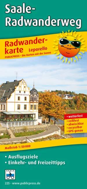 Publicpress Radwanderkarte Saale-Radweg